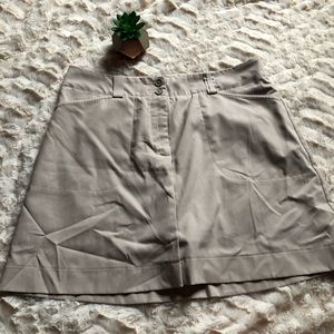 Nike Golf Fit-Dry Tan Skirt with Shorts